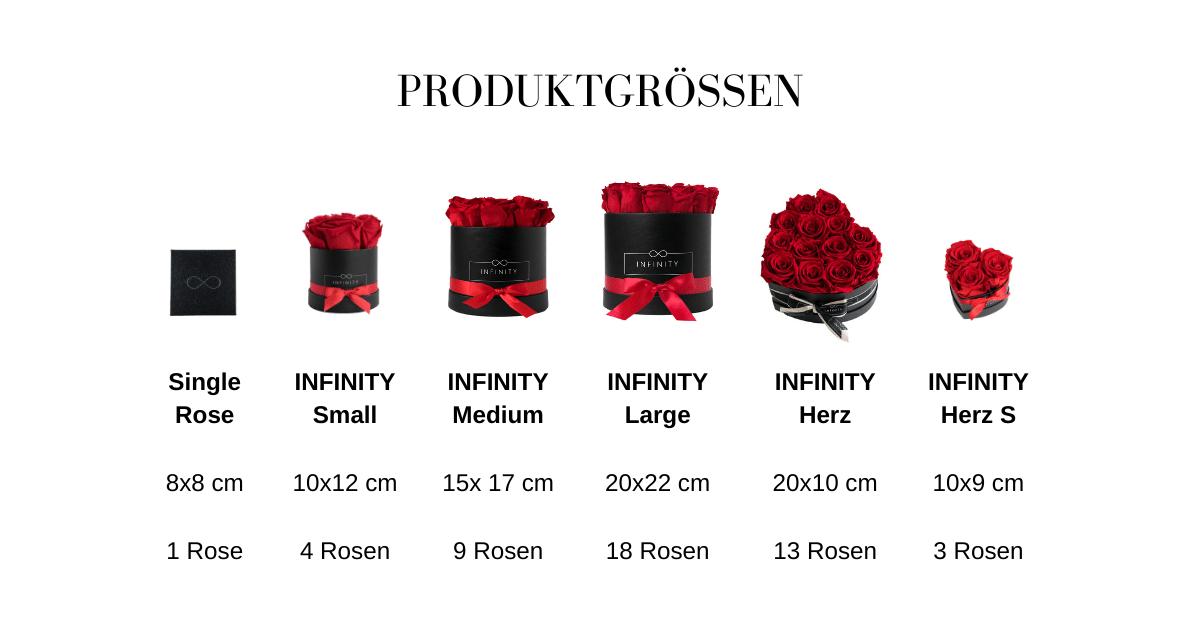Produktgrößen Tabelle
