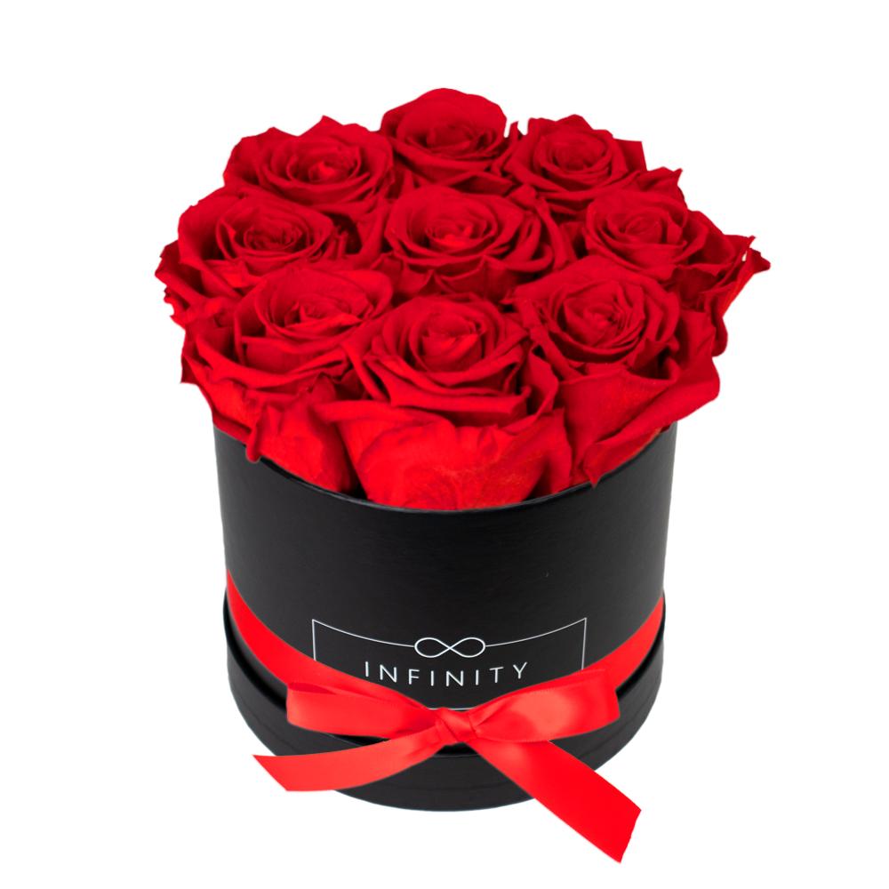 Rote Infinity in schwarzer Flowerbox günstig kaufen