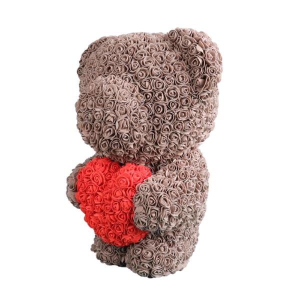 Infinity Rosen Bär in Braun mit roten herz