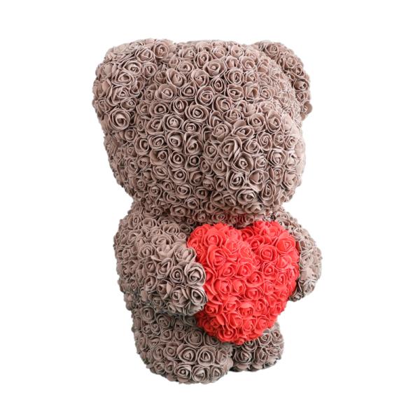 Teddy aus Rosen in Braun Large