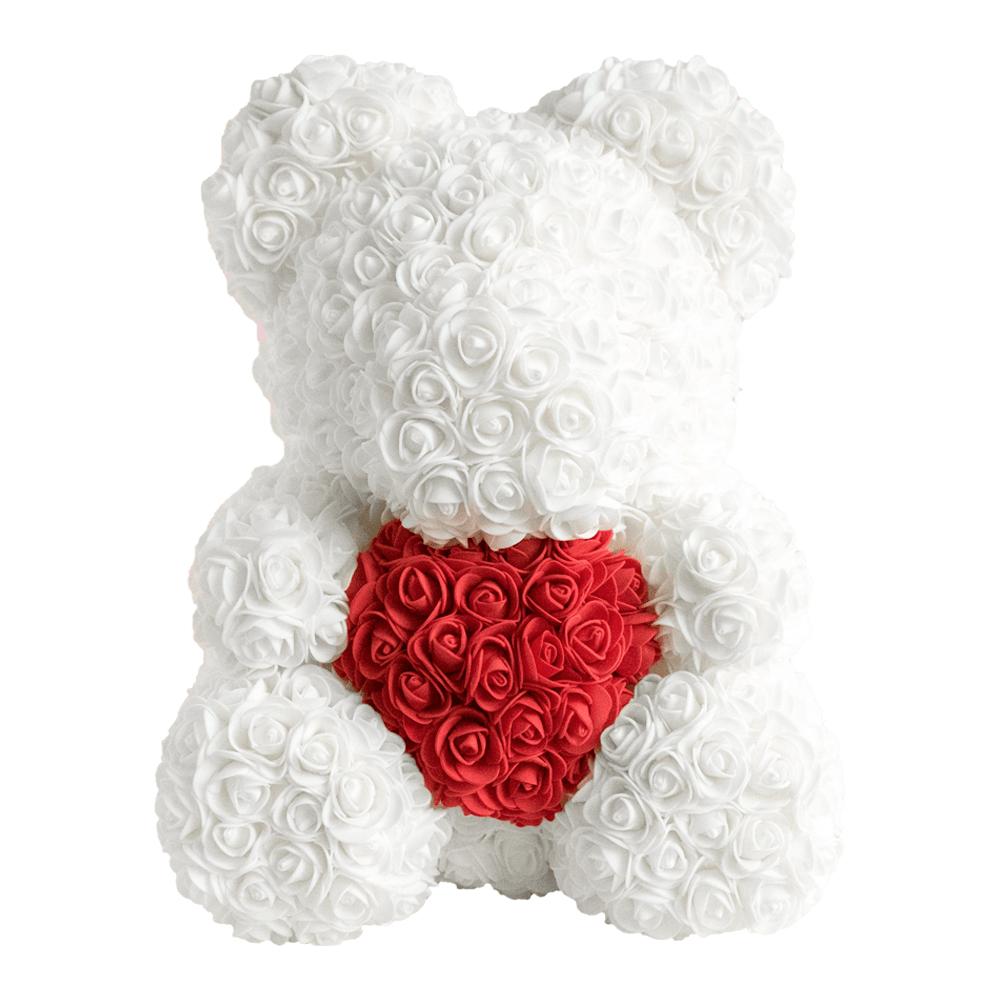 Weiß mit rotem Herzen