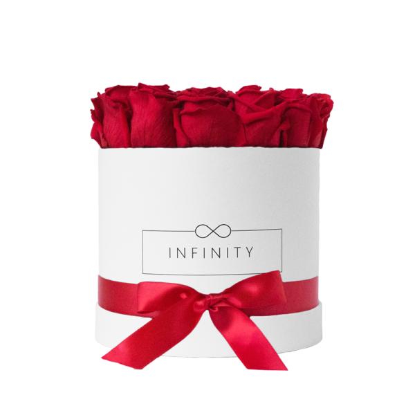Vibrant Red INFINITY Flowerbox Medium mit ewig haltbaren Rosen