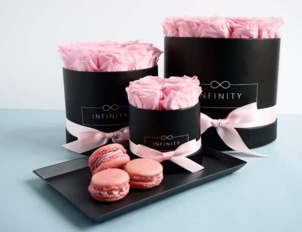 Bridal Pink konservierte Flowerbox die 3 Jahre hält