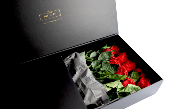 Stem Rose die ewig haltbar ist von Infinity Flowerbox