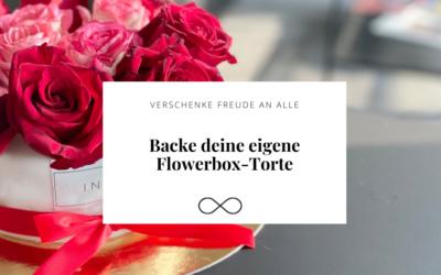 Flowerbox-Torte mit echten Rosen
