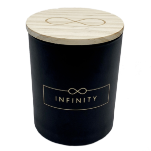 Duftkerze von Infinity Flowerbox mit edlen Holzdeckel