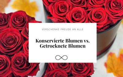 Der Unterschied zwischen getrockneten und konservierten Blumen