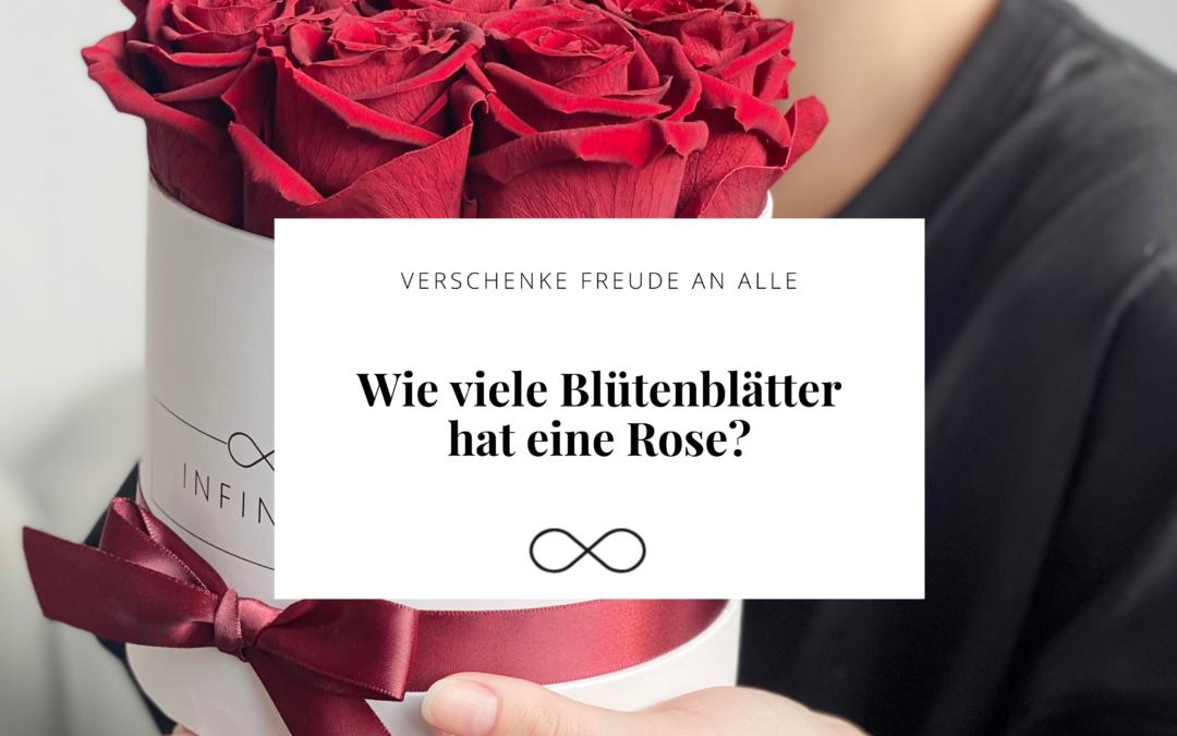 Wie viele Blütenblätter hat eine Rose?